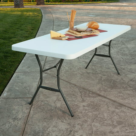 Lifetime 6 Fold In Half Table  White Granite