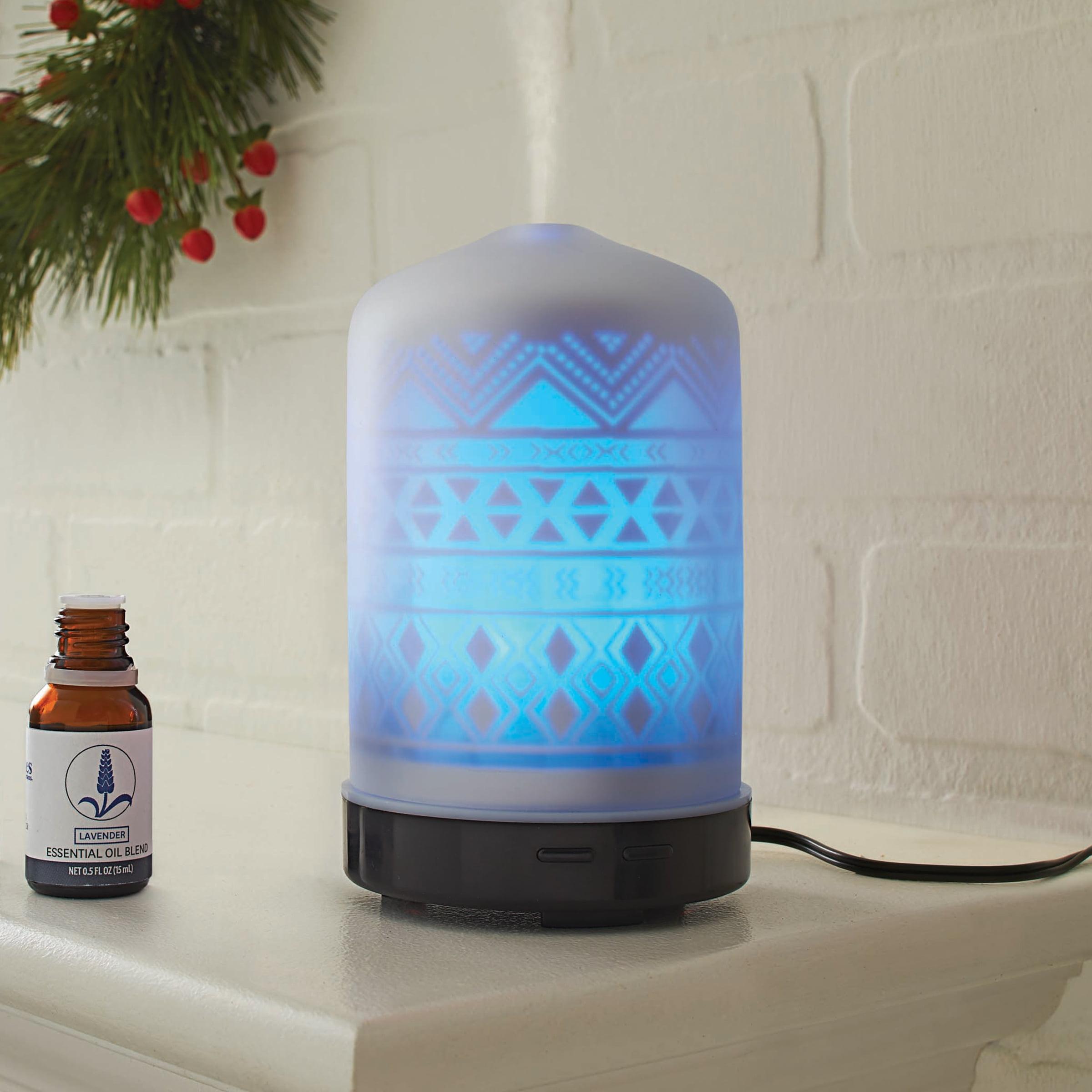Better Homes & Gardens Etched Aztec Oil Diffuser & Oils Set Lavender ...