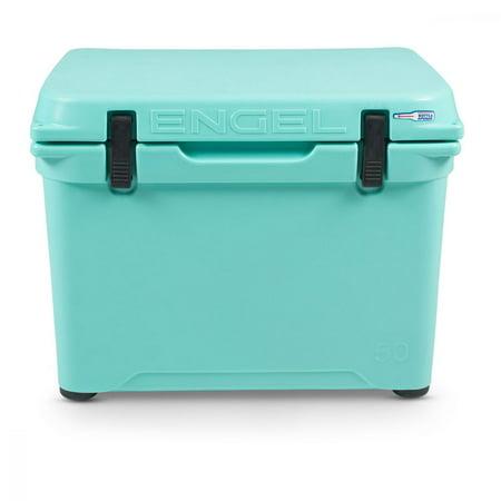 Engel Coolers 48 Quart 60 Can High Performance Roto Molded Ice Cooler, Sea Foam