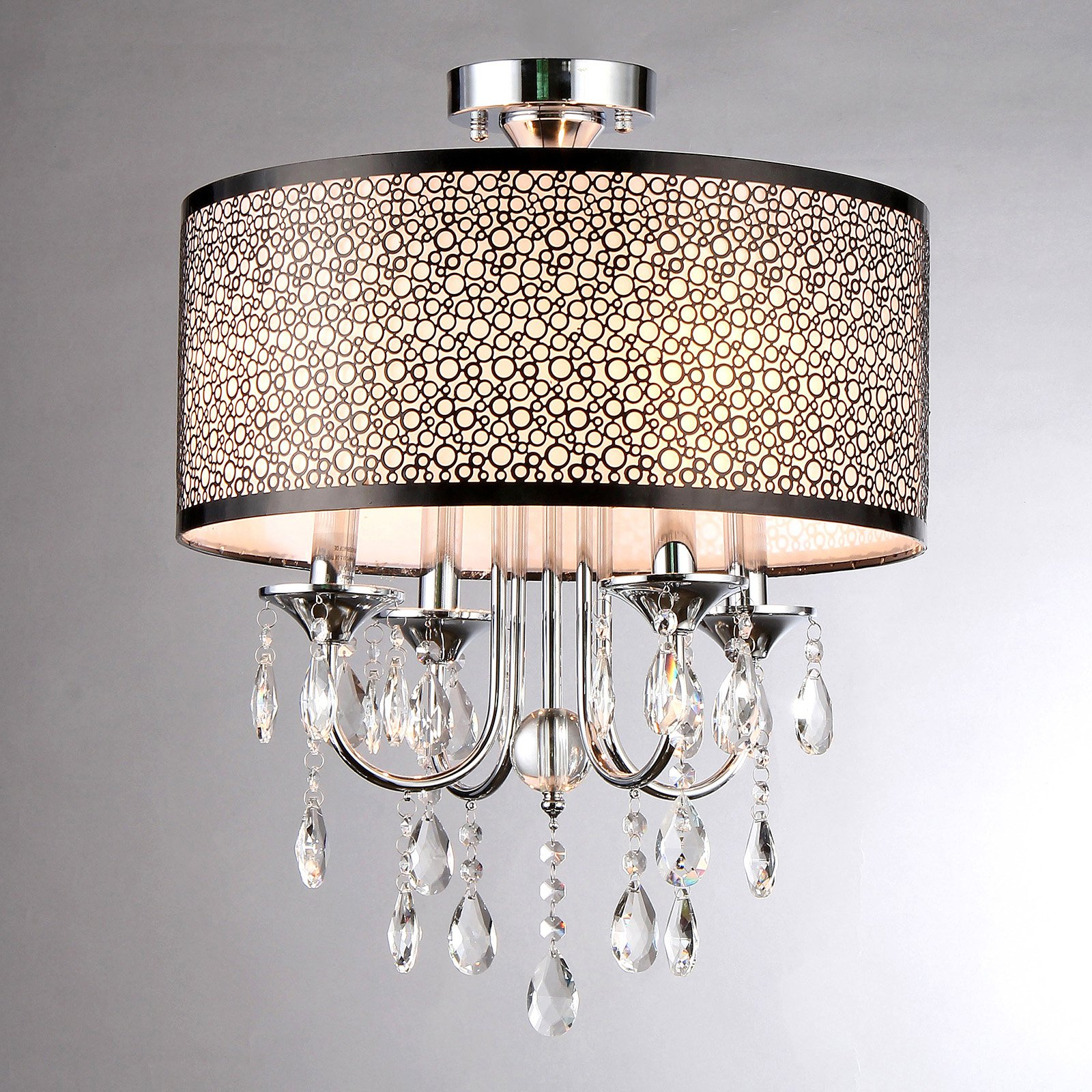 Warehouse of Tiffany Shane RL7901/4 Crystal Semi Flush Mount Light