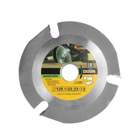 125mm 3 Teeth Circular Saw Blade Multifunctional Grinding Machine Grinder Saw Disc Carbide Tipped Wood Cutting Blade Power Tool