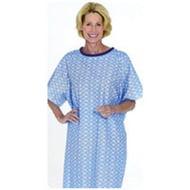 """SnapWrap Deluxe Adult Patient Gown, 41"""" L, Blue Plisse-1 Each"""