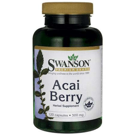 Swanson Acai Berry 500 mg 120 Caps (Acai Berry Best Brand)
