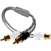 DB Link SXY2M Twisted-Pair Strandworx Series RCA Y-Adapter, 1 Female to 2 Males