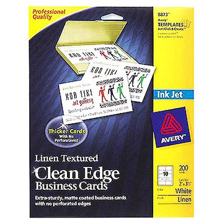 Avery 8873 clean edge inkjet business card walmartcom for Does walmart print business cards