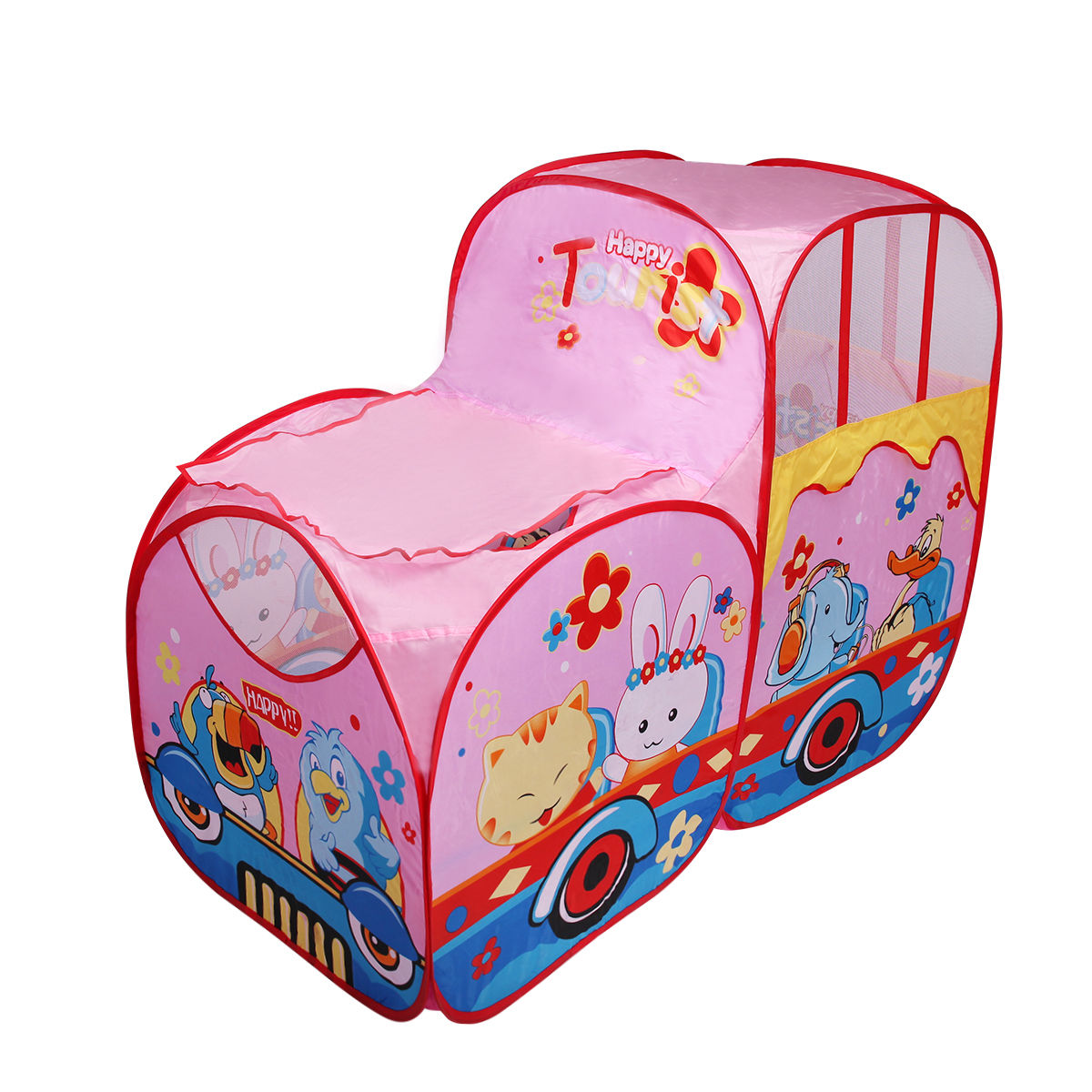 Goplus Kids Baby Play Tent Train Colorful In/Outdoor Portable Foldable Children Gift