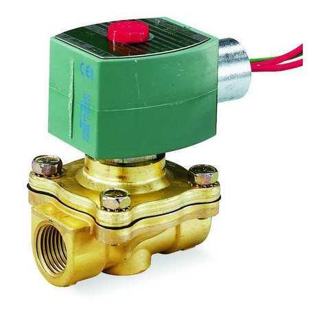 REDHAT Solenoid Valve,Brass,NC,Air,Inert Gas EF8210G095