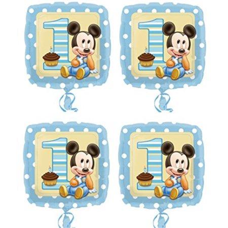 4x Disney Baby Mickey Mouse 1st Birthday 18