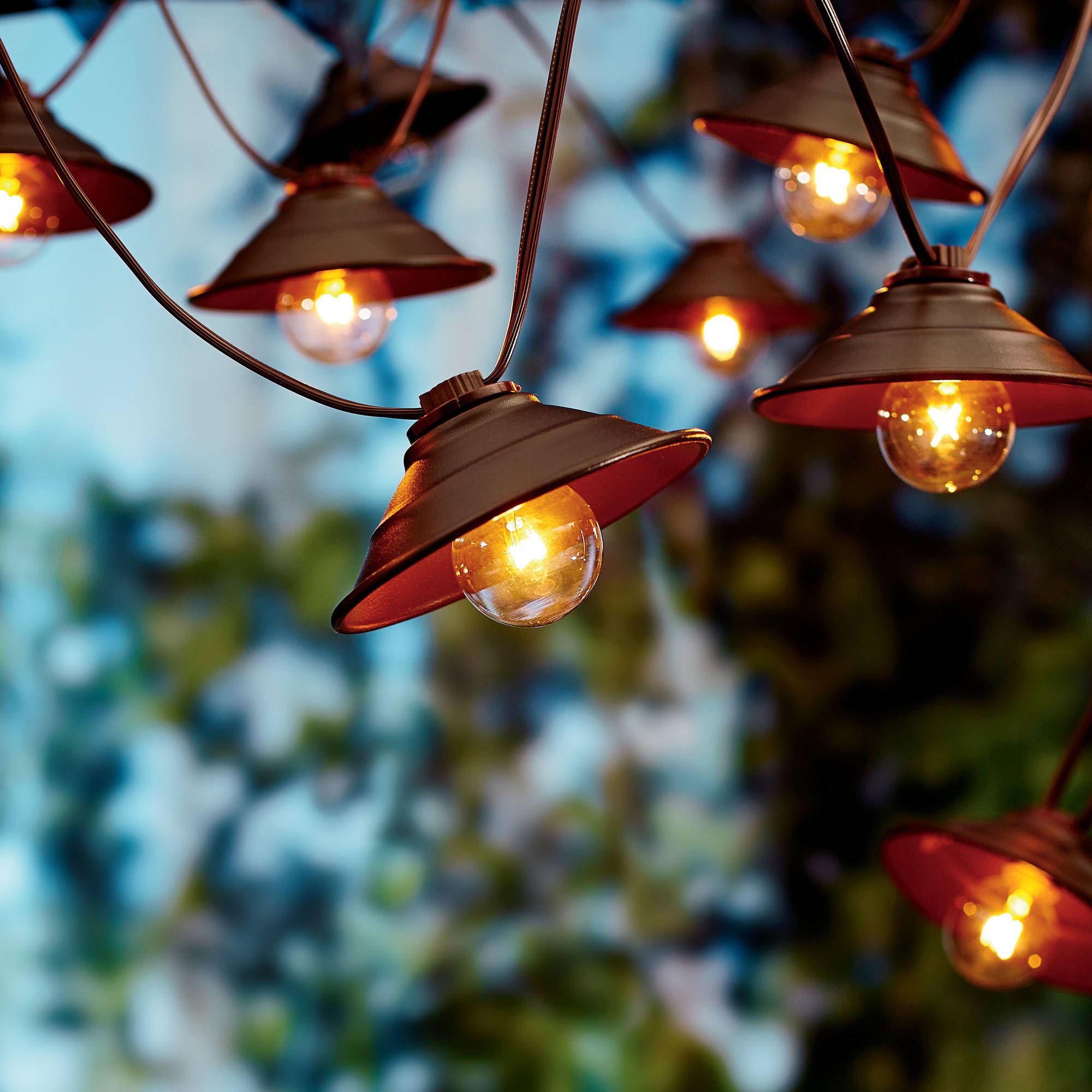 Better Homes and Gardens 10 Count Vintage Cafe Shade String Lights