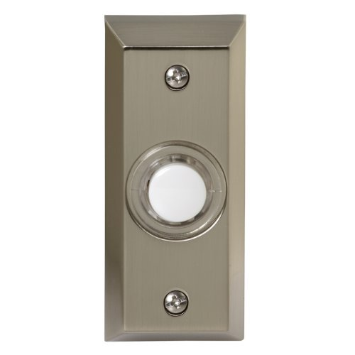 Honeywell Rpw204a1005 A Wired Surface Mount Illuminated Push On For Door Chime Stainless Steel Finish