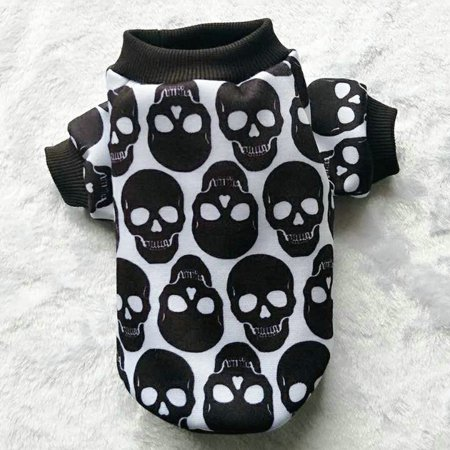 Pet Puppy Small Dog Cat Pet Clothes Skull Apparel T-shirt Clothes - Dog Sugar Skull