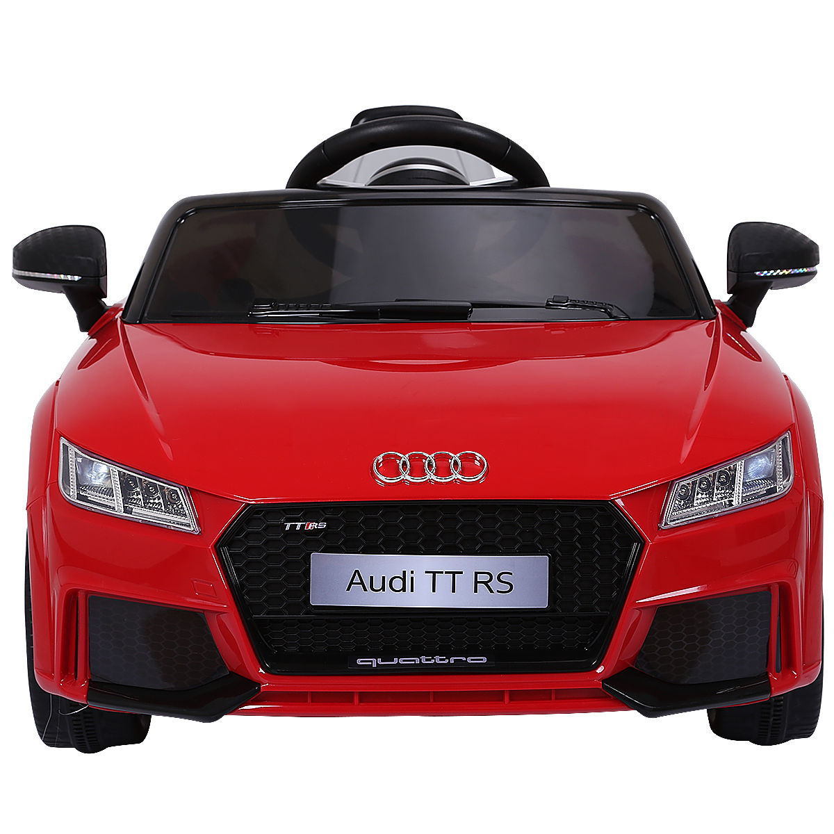 Gymax Red 12V Audi TT RS Electric Kids Ride On Car Licensed Remote Control MP3 by Gymax
