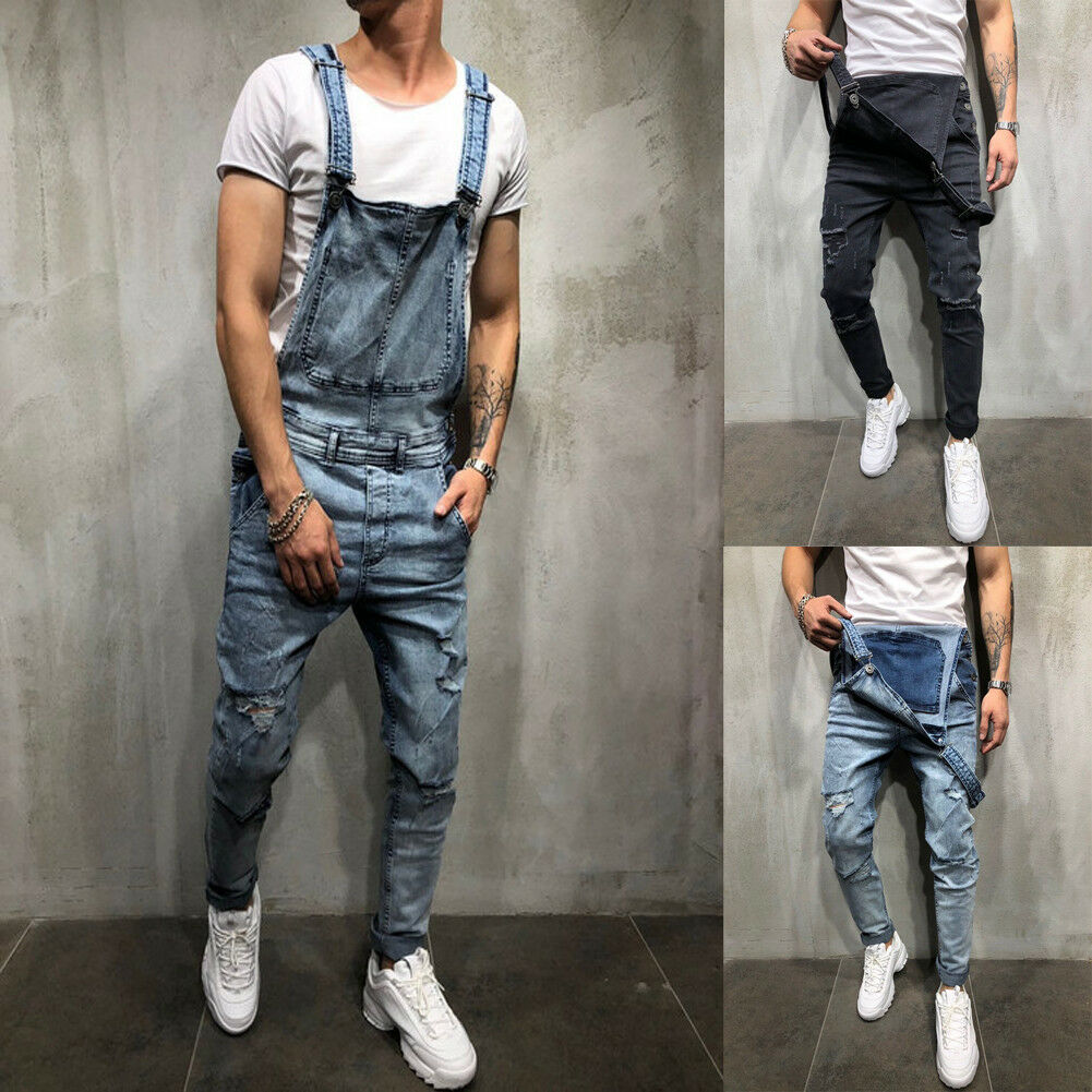 big sale factory price casual shoes Hirigin - Mens Ripped Skinny Jeans Destroyed Frayed Slim Fit Denim Pant  Overall Workout US - Walmart.com