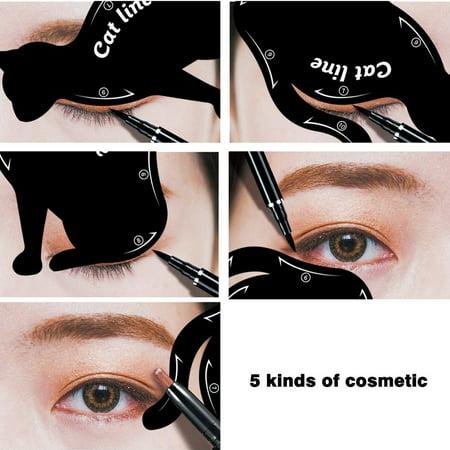 Women Cat Line Eye Makeup Eyeliner Stencils Templates Stylish Makeup Tools Make-Up Kit