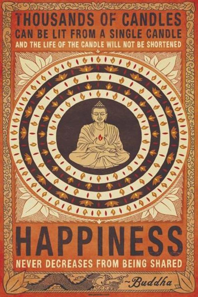 Motivational Happiness Art Poster
