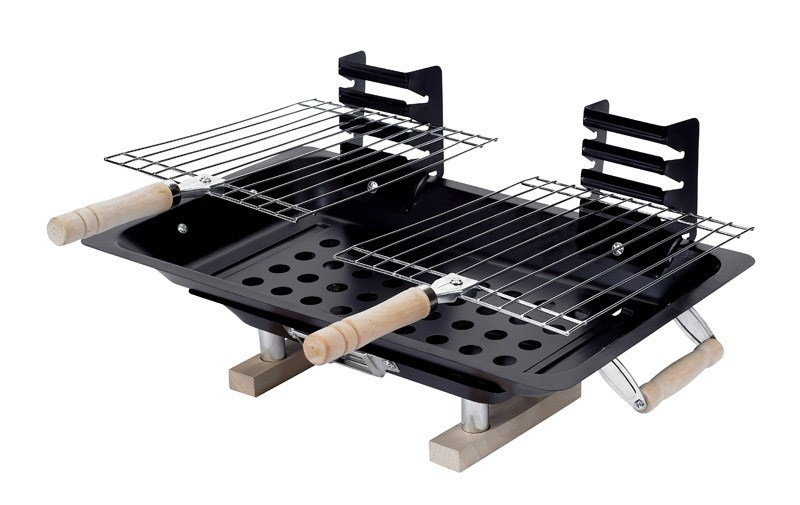 Marsh Allan 30002 Steel Hibachi Charcoal Grill, Black by Kay Home Products