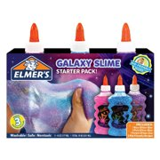 Elmer's Glitter Glue Slime Starter Packs, 3-Pack, Galaxy