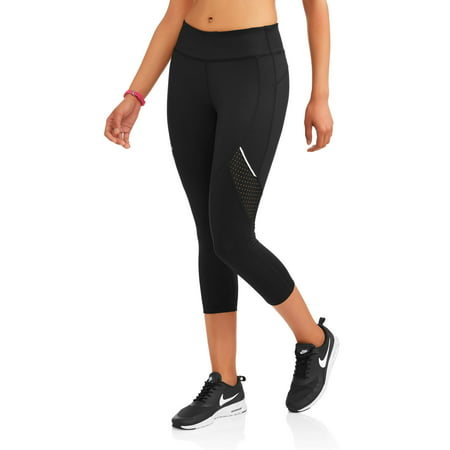 6b4394570bd3be Women's Active Allover Print Performance Capri Legging with Mesh Inserts