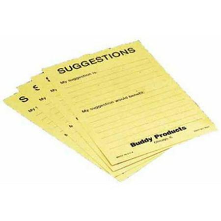 Sandusky Buddy Suggestion Cards, 50-Pack