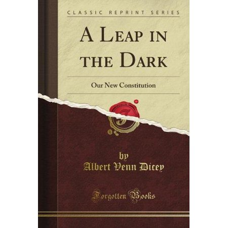 A Leap In The Dark  Or Our New Constitution  Classic Reprint