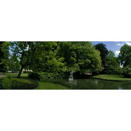 Trees in a park Queen Astrid Park Bruges West Flanders Belgium Poster Print
