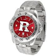 Suntime ST-CO3-RSK-SPORTM-A Rutgers Scarlet Knights-Sport Steel AnoChrome Watch