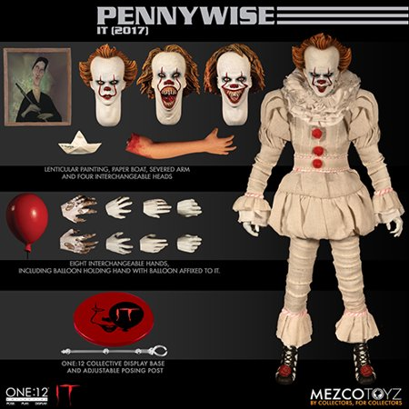 One 12 Collective 6 Inch Action Figure It 2017 Pennywise Walmart Canada