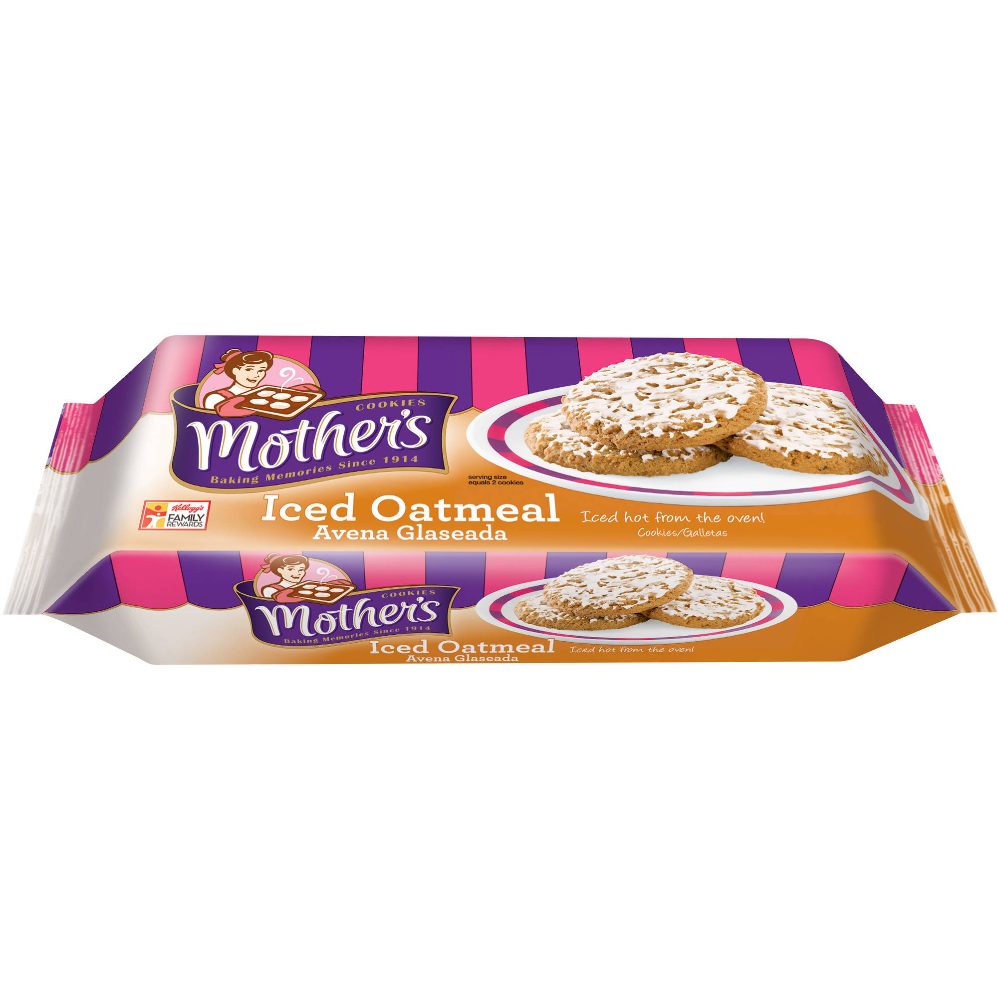 Generic Mother's Cookies Iced Oatmeal Baked With Pride, 13.25 Oz