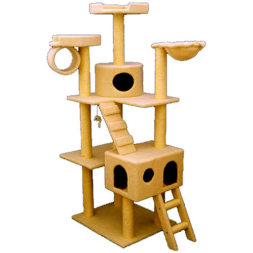 Majestic Pet 73 in. Bungalow Sherpa Cat Tree