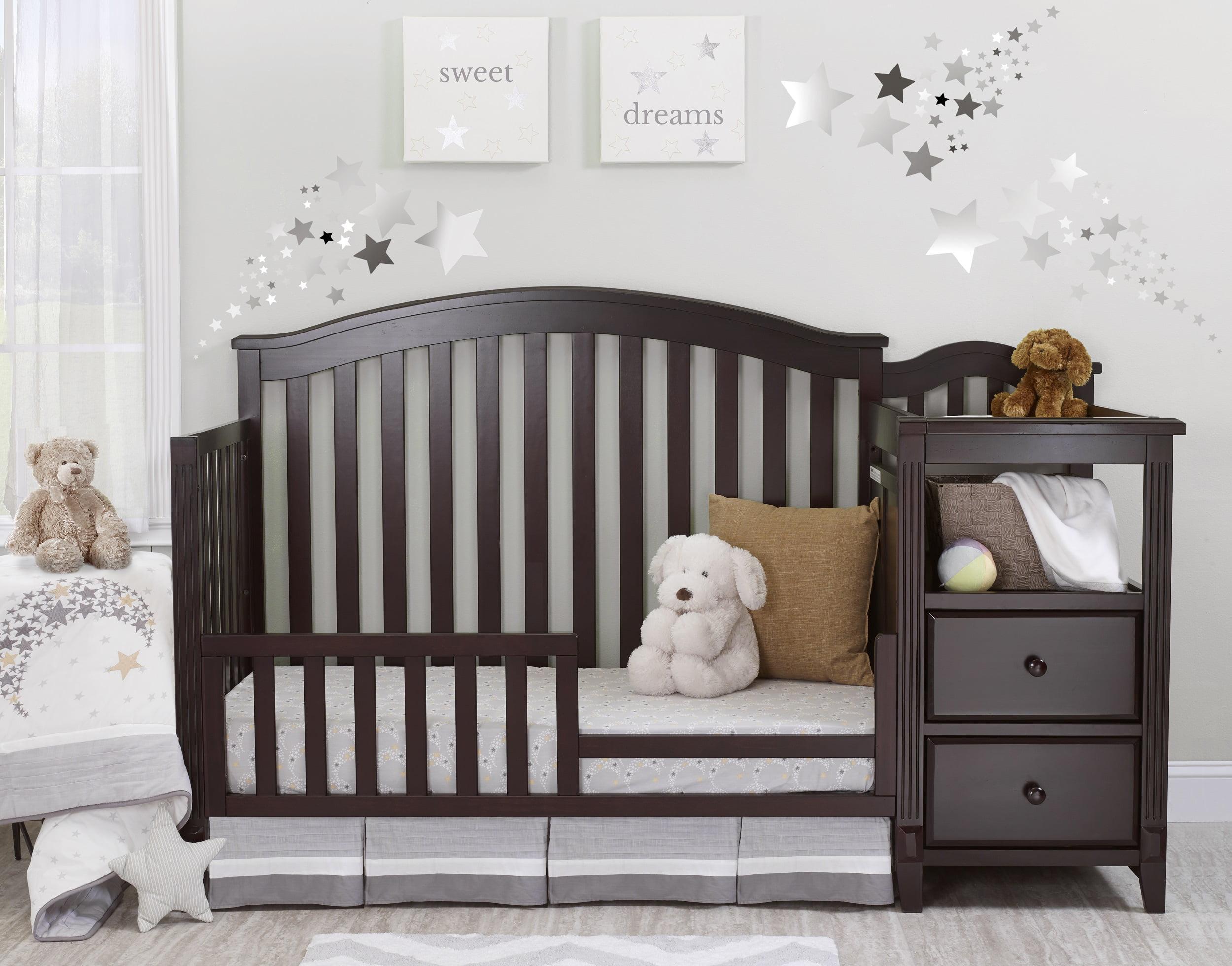 Sorelle Berkley 4 In 1 Convertible Crib And Changer Espresso Walmart Com Walmart Com