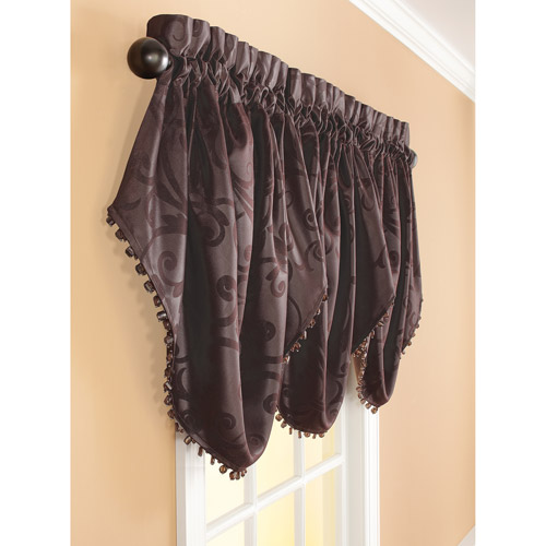 Better Homes and Gardens Embossed Textured Jacquard Curtain Valance