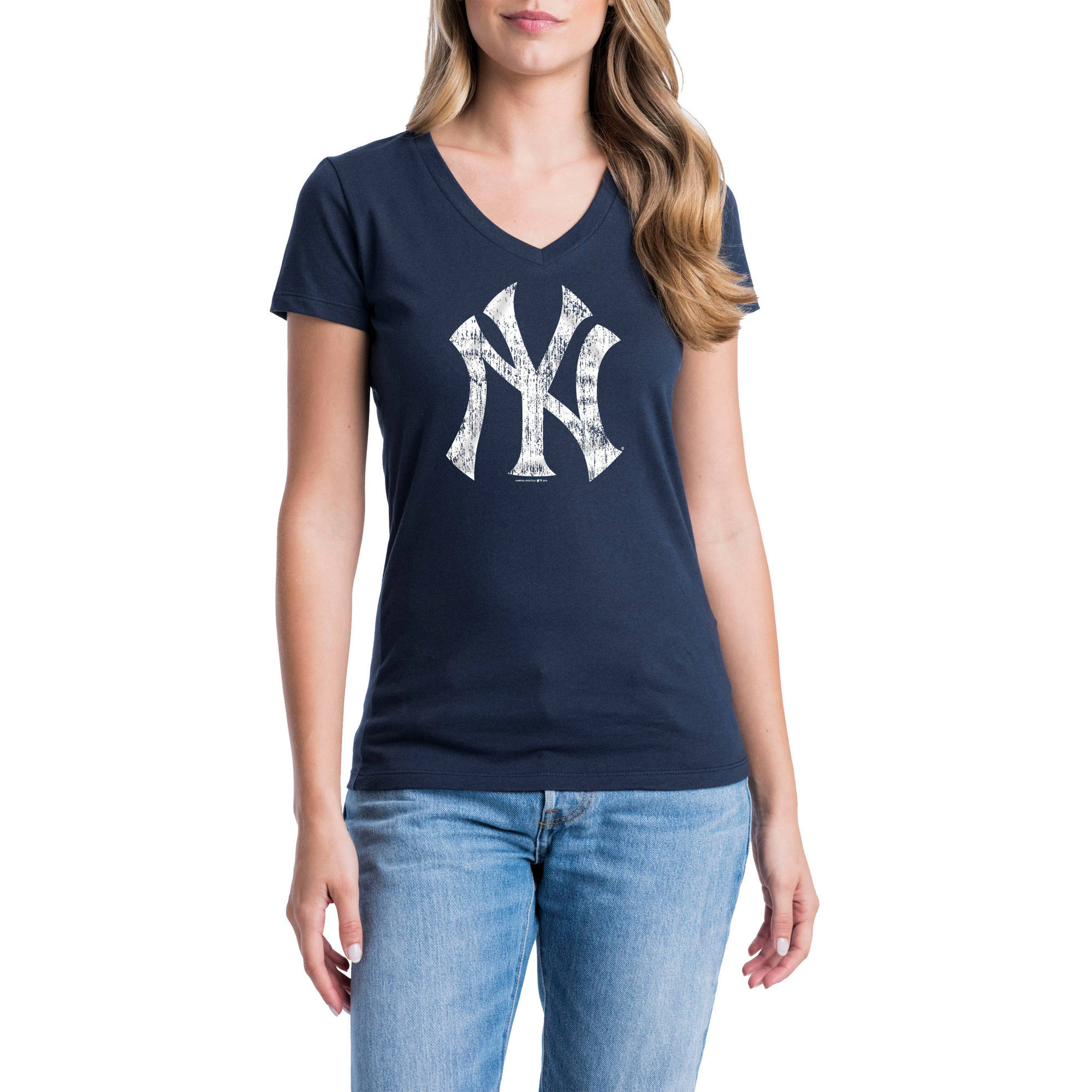 New York Yankees Womens Short Sleeve Graphic Tee