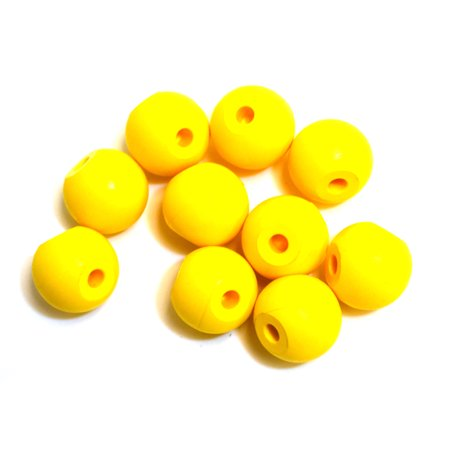 Molecular Model Atoms, Yellow, Pack of 10 - 2.2cm, 2 Holes - Spare Extra Parts for Molecular Model Kits - Eisco Labs