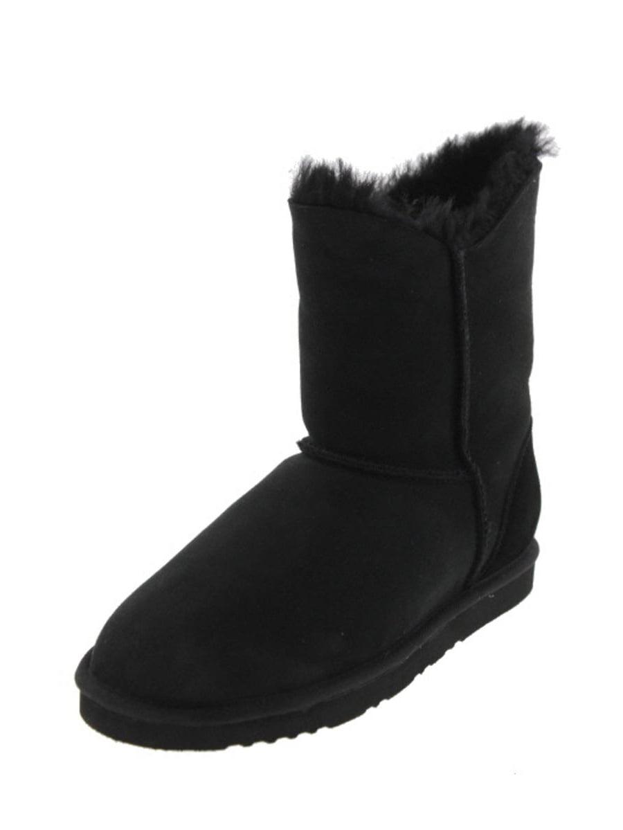 Koolaburra Womens Double Halo Short Sheepskin Lined Ankle Boots