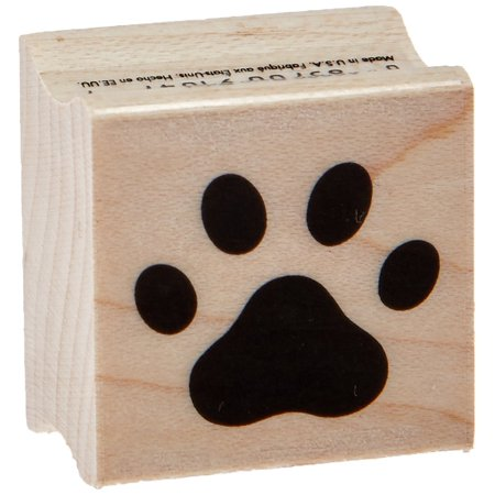A6220 Woodblock Stamp, Red Rubber - Paw Print, LASTING IMPRESSION - this design is a Hero Arts original. Deeply etched rubber delivers a lasting impression By Hero Arts - Paw Print Stamp