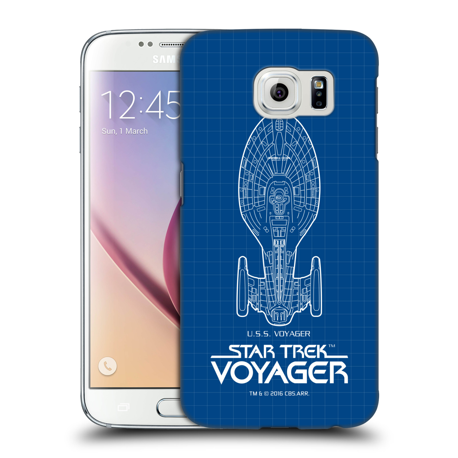 OFFICIAL STAR TREK SHIPS OF THE LINE VOY HARD BACK CASE FOR SAMSUNG PHONES 1