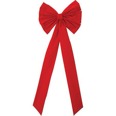 HOLIDAY 46IN RED WREATH BOW - Halloween Wreath Bows
