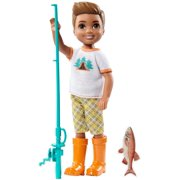 Barbie Camping Fun Boy Doll with Fishing-Themed Accessories