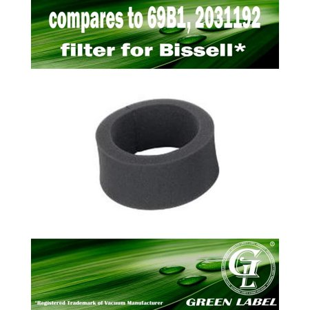 Outer Circular Filter (For Bissell Foam Outer Circular Vacuum Filter (compares to 69B1, 2031192). For Bissell Upright Vacuum Cleaners. Genuine Green Label)