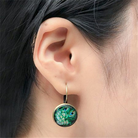 AIHOME Paired Exquisite and Retro Time Jewel Earrings Fashion Multiple Patterns Earrings - image 6 de 6