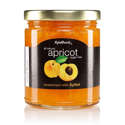 Apricot Fruit Jam XyloBurst 10 oz Glass Jar