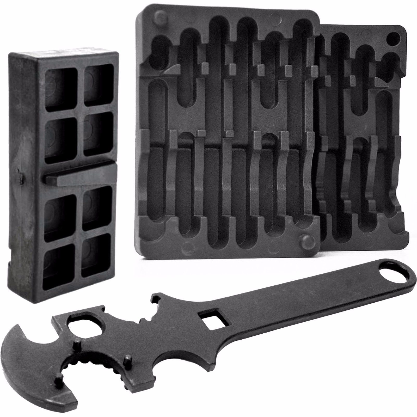 LIVABIT 3PC Combo Armorer's AR Multi Tool Upper Lower Vise Block Wrench