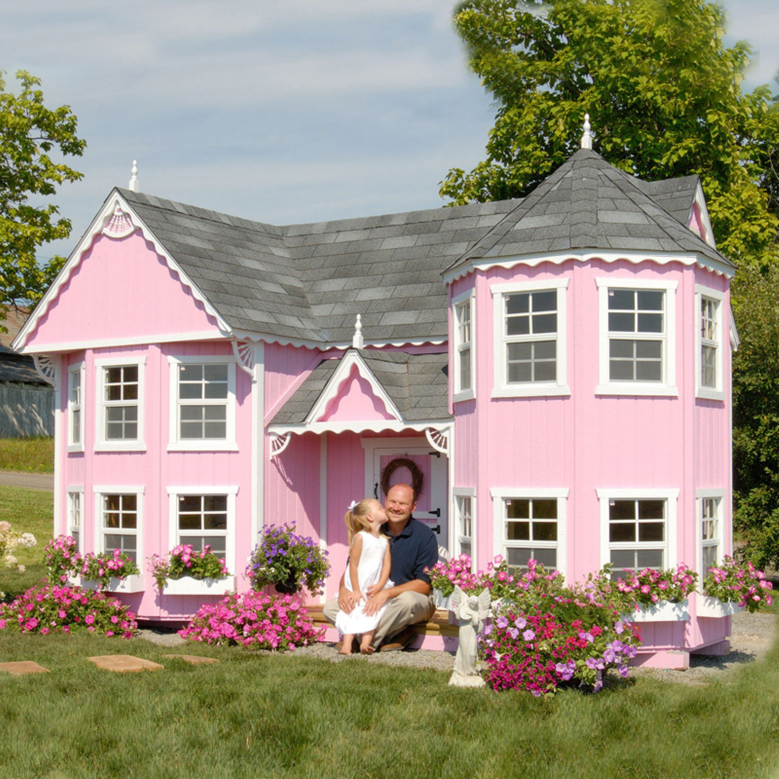 Little Cottage Sara Victorian 8 x 16 ft. Mansion Wood Playhouse by Little Cottage Co