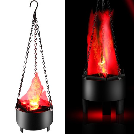 Electronic Brazier Lamp, Indoor LED Simulation Flame Light Funny Creative Flame Lamp with Artificial Fake Fire Light Party Christmas Halloween Decoration Realistic Fire Effect Brazier Props