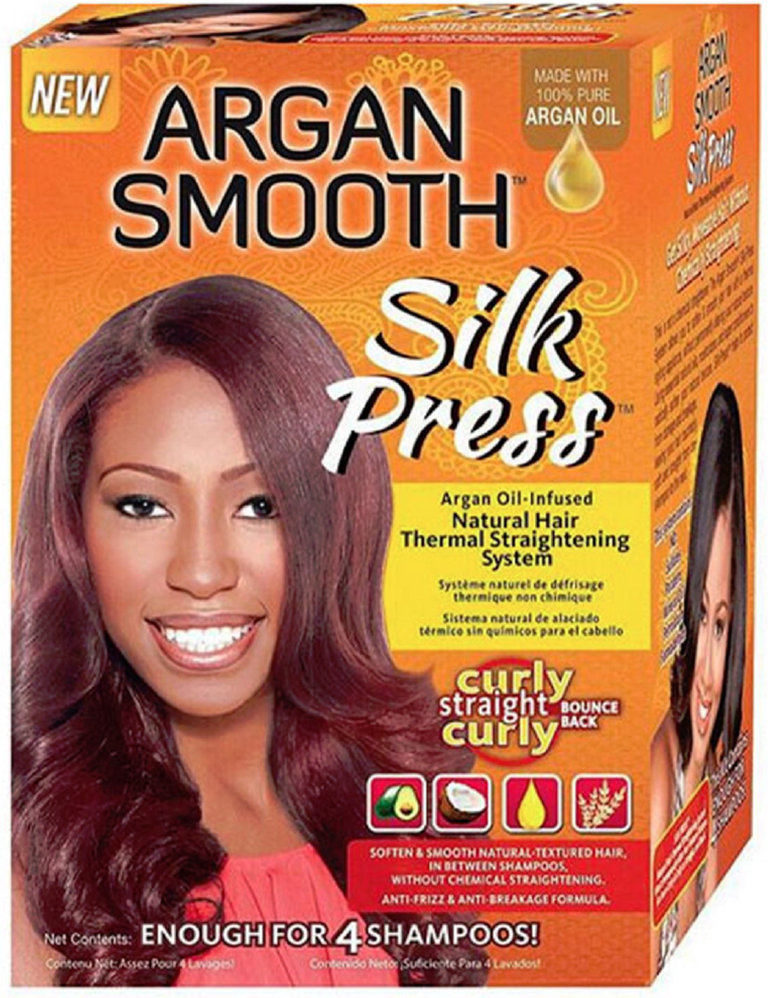 Africa S Best Argan Smooth Silk Press Natural Hair Thermal Straightening System 1 Ea