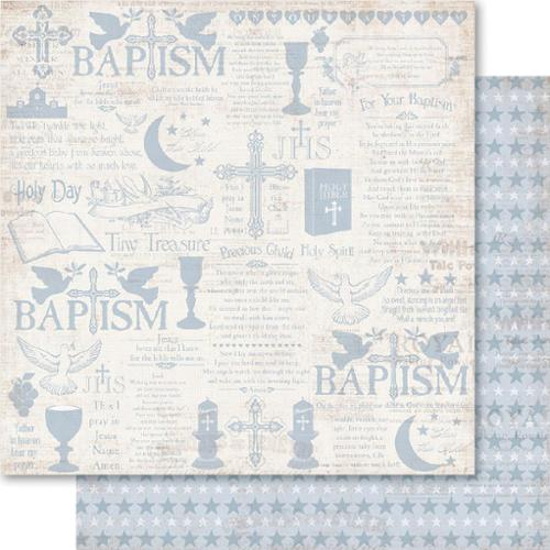 """Christening Double-Sided Cardstock 12""""X12""""-Boy"""