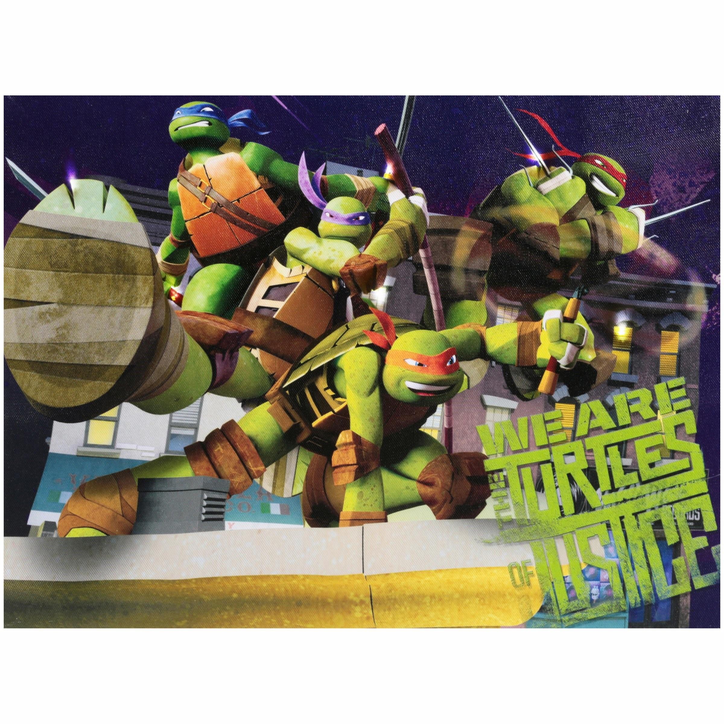 Nickelodeon Teenage Mutant Ninja Turtles Light Up Canvas LED Wall Art