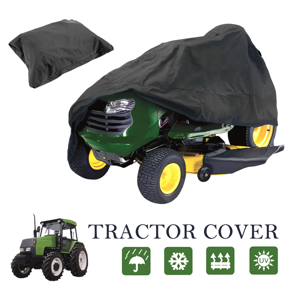 "Lawn Mower Cover,iClover Lawn Tractor Cover Heavy Duty Waterproof Polyester Material with Ultraviolet Resistant and 54"" Universal Fit Size"