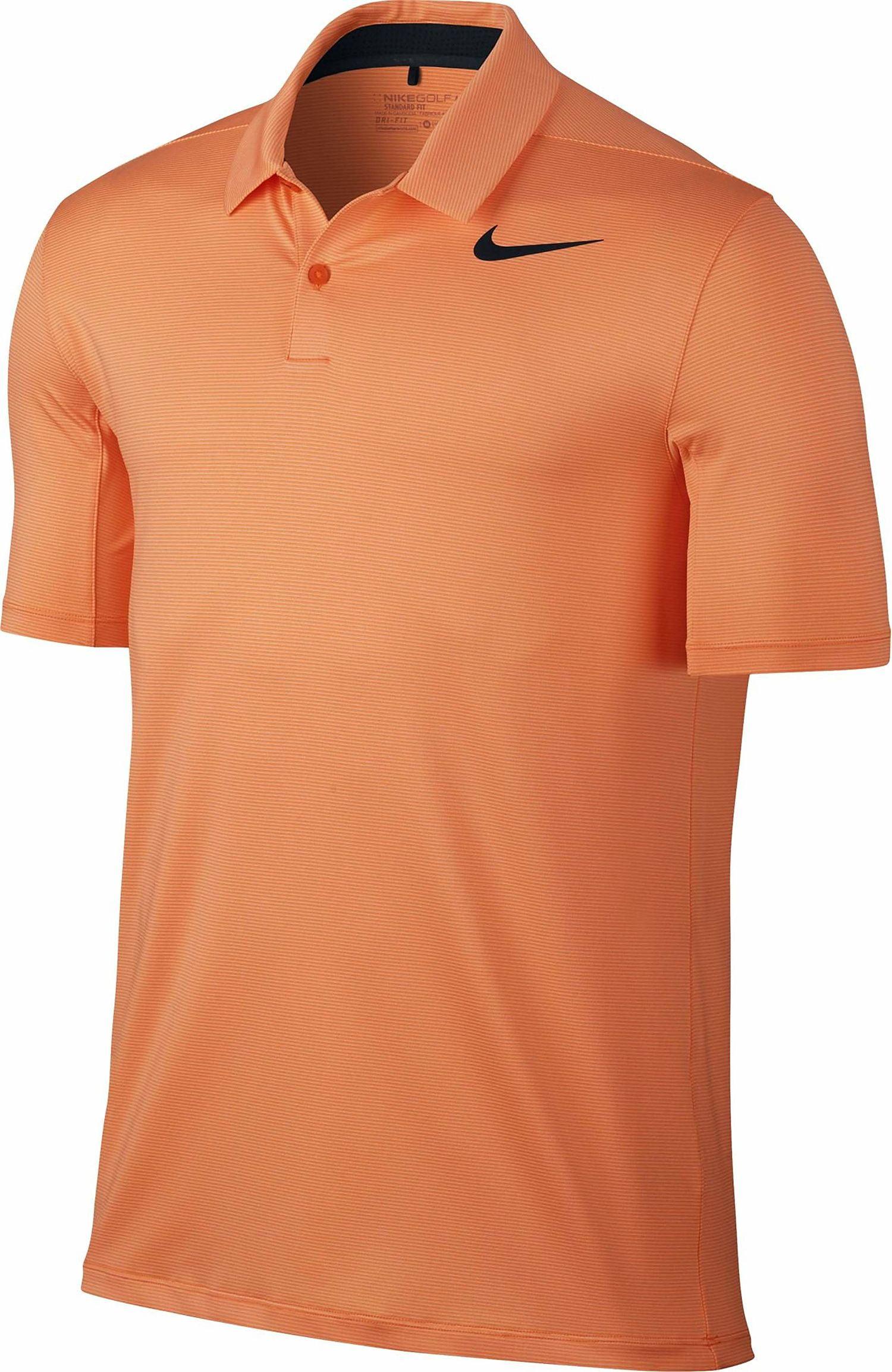 0a9d55e6 Nike 'Dry Control' Mens Orange Micro Striped Polo Shirt