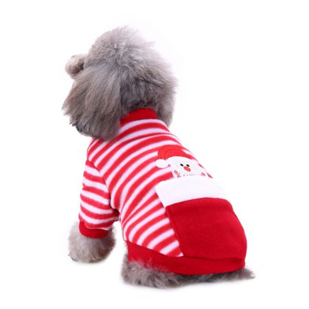 SWEETLIFE Christmas Dog Pajamas Clothes For Autumn Winter XS-XL Pet Clothing With Zipper Jumpsuit For Pet Dog Bulldog - Pet Christmas Clothes